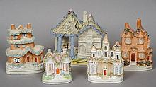 A Victorian Staffordshire flat back cottage Modell
