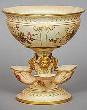 A Royal Worcester porcelain centrepiece The centra