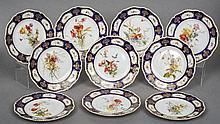 A set of ten Royal Worcester porcelain botanical p