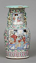 A 19th century Chinese porcelain vase Decorated wi