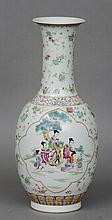 A Chinese porcelain vase Decorated with figural vi