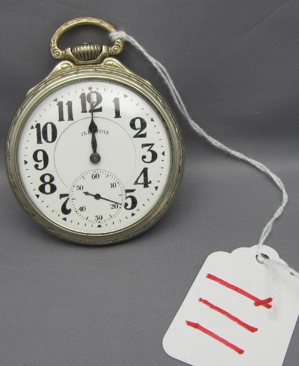 Illinois Bunn Special Model 173 23 Jewels Railroad Pocket watch
