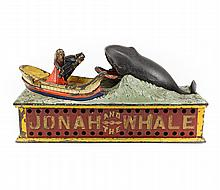 1890 Jonah and the Whale Iron Mechanical Coin Bank