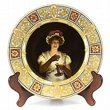 19th Century Royal Vienna Porcelain Cabinet Plate