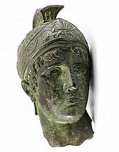 Life Size Roman Bronze Head of Soldier