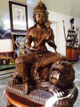 A large bronze statue