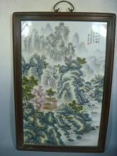 A Famille Rose Porcelain Plaque