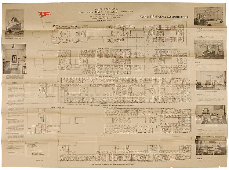 First Class Deck Plan