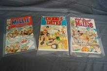 3 COMIC MILLIE THE MODEL, DEBBIE'S DATES, MAD ABOUT MILLIE