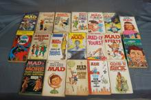 LOT OF 19 MAGAZINES MAD, ARCHIE, DENNIS THE MENACE 1960'S