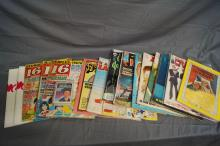 MIXED LOT OF MAD MAGAZINES, CRAZY #2, MAD WAX PACK CARDS