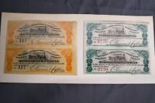 1880'S NATIONAL BANK COUPON NOTES - NEW HAVEN RAILROAD