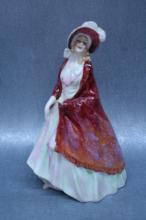 Royal Daulton Figurine, Paisley Shawl RN #753120, approx. 8 3/4 tall