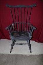 Early American Windsor Chair painted Black