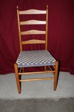 Nichols & Stone Ladder Back Chair with woven seat