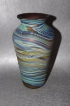 Vintage Blown Art Glass Swirl Vase