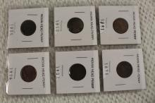 6 INDIAN HEAD PENNY !!!! WE SHIP WORLD WIDE !!!!