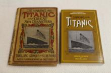THE SINKING OF THE TITANIC AND THE GREAT SEA DISASTERS 1912 & THE SINKING OF THE TITANIC 1997 SIGNED BY BRUCE M CAPLAN !!!! WE SHIP WORLD WIDE !!!!