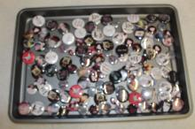 126 LARGE & SMALL ASSORTED BUTTON PINS !!!! WE SHIP WORLD WIDE !!!!