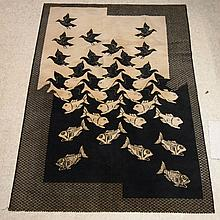 Escher :   Tapis vers 1960,