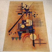 Kandinsky :   Tapis mécanique,