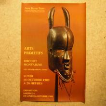 Photographie publicitaire d'exposition pour l'Arts Primitifs, <br> datée 16 octobre 1989, <br> dim: 83 x 55 cm