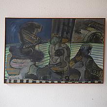 De Taye Camille (1938) :  Huile sur toile,