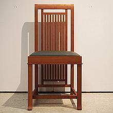 Wright Lloyd Frank / Cassina :  Suite de 14 chaises style Art-Déco,