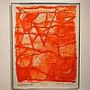 Kerg Théo (1909-1993) :  Estampe couleur,