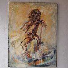 Chevreau Christophe (1954) :  Huile sur toile,