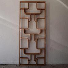 Halabala / Drevopodnik Holesav :  Claustra design vers 1960 :