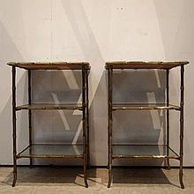 Bagues :  Paire de tables bout de canapé vers 1940,