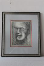 Pen and Ink of Man