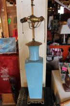 Chinese Turquoise Colored Lamp