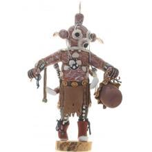 Hopi Double Mudhead Kachina Doll Set Large Carving Signed