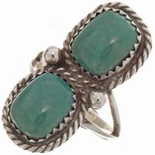 Native American Turquoise Ladies Ring Sizes 5-1/2 To 10