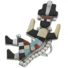 Inlaid Zuni Rainbow Man Ring By Shirley Quam