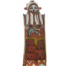 Hopi Snow Maiden Kachina Doll On Pueblo By Melvin Tewa