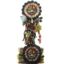 Sunface Kachina Doll By Hopi Carver Milton Howard