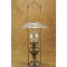 Vintage Old West Lantern El Paso Texas Cowboy Lamp Brass Bunk House Oil Lamp
