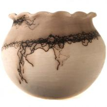 Small Horse Hair Pottery By Natalie Jetter