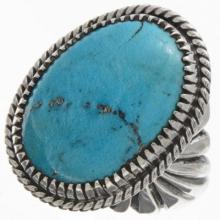 Turquoise Navajo Silver Mens Ring Sizes 9 To 13
