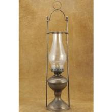 Vintage Old West Wells Fargo Lantern Rustic Brass Bunk House Oil Lamp