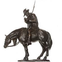 Man on Horse Bronze Sculpture 20th Century by Ferdinado Vichi
