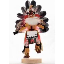 Yellow Ahote Kachina Doll Navajo Carved And Painted