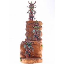 Hopi Three Kachina Doll Sculpture by Milton Howard