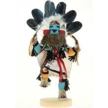 First Mesa Silent Warrior Kachina Doll Navajo Handmade