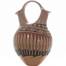 Mata Ortiz Wedding Vase Polychrome Pottery By Camacho