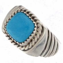 Natural Turquoise Mens Ring Sizes 9 to 13