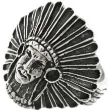 American Indian Chief Silver Ring Mens Any Size